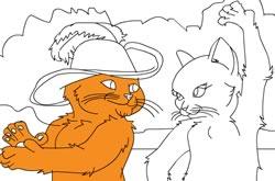 Colorindo O Gato De Botas