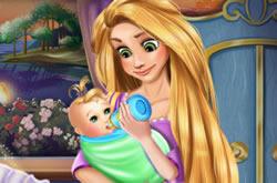 Rapunzel Cuidando Do Bebê