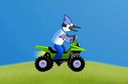 Regular Show Driving On Hill