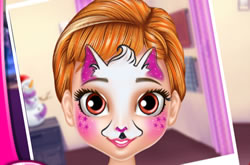 Little Princess Anna Face Painting