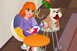 Lilly beijos no Pet Shop
