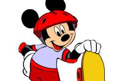 Skating Mickey