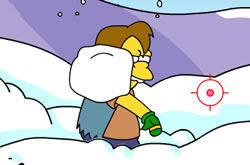 Simpsons Snow Fight