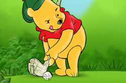Pooh Bear and Golfer