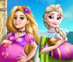 Elsa and Rapunzel Pregnat BFFs