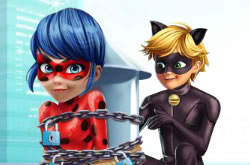 Cat Noir Saving Lady bug