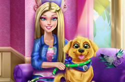 Barbie Puppy Potty Trainning