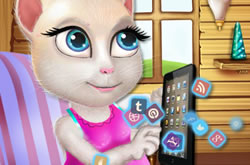 Pregnant Talking Angela