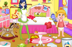 Masha Babysitter Room Cleaning