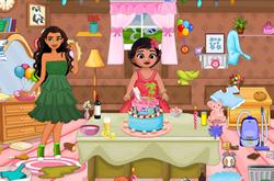 Baby Moana Birthday Party Cleaning