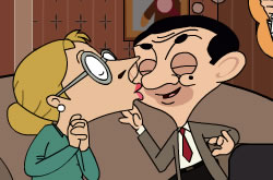 Mr Bean Kissing