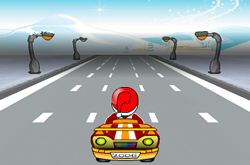 Santa on Road 2