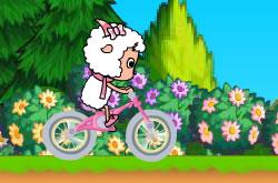 Goat on Bike